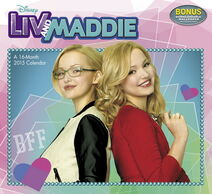 Disney-Liv-and-Maddie-Wall-Calendar-2015-Mead-Acco-MegaCalendars-9781629050829-Front