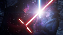 Kylo Ren Vs Rey Lightsabers