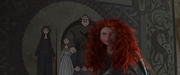 Merida ripping the family tapestry in anger