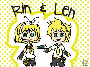 Vocaloid Rin & Len by disneygirlkaley