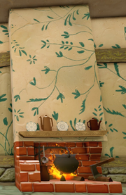 Aurora's Cottage Fireplace