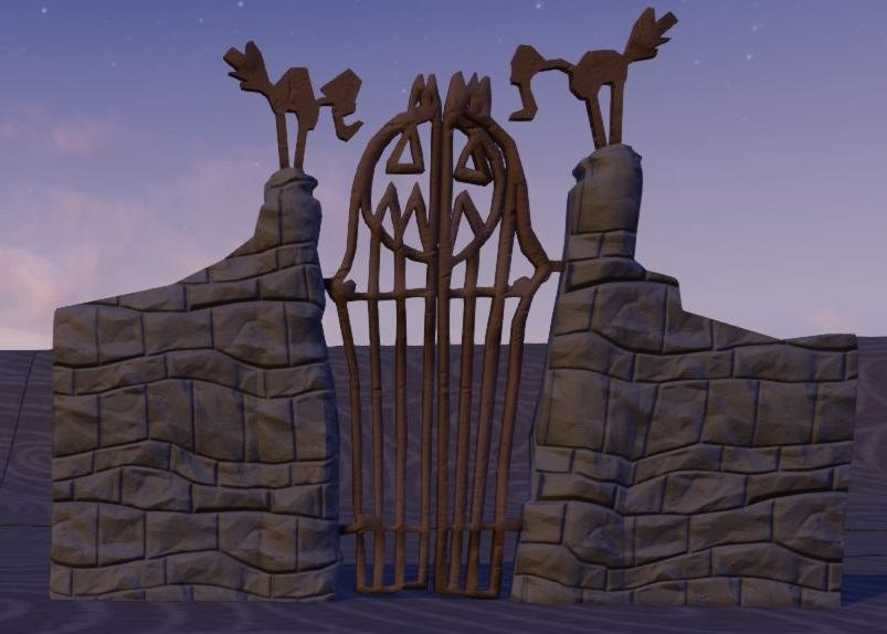 halloween town gate - Halloweentown Nightmare Before Christmas