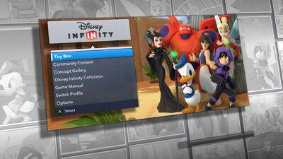 Disney Infinity 2.0 menu