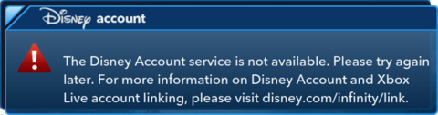 Error-service-Disney account service not available