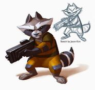 SamNielson Rocket Raccoon Paint