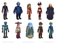 Townspeople concept