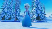 Elsa in Frozen.