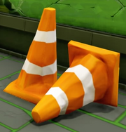 Crushed Construction Cones