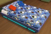 Fred's Blue Ninja Bed