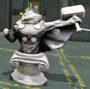 Frog Thor Statue