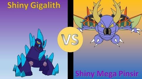 Pokemon Y - Shiny Gigalith Versus Shiny Mega Pinsir