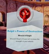Ralphs Power of Destruction