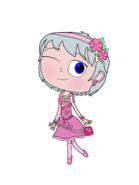 Luna Girl's cherry blossom festival outfit