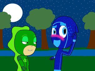 Glamorous Gekka flirts with Night Ninja