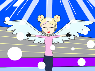Cassie the skating Star Angel