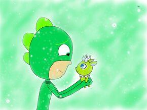 Gekko's Frosty Friend