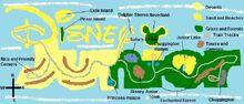 Map of Disney Junior Island