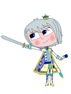 Luna Girl's knightly prince outfit