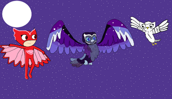 Owlette, Snowdrop, and the Nocturnowl