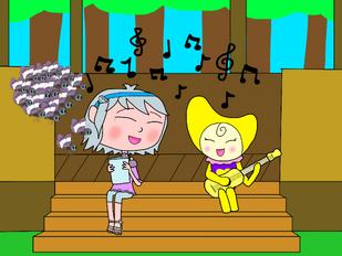 Luna and Lunabory singing together