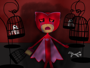 Despaired Owlette and her darkened world