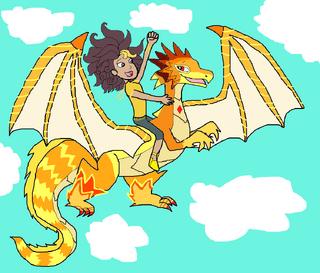 Leona Rides Golden Dash The Goldscale!