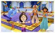 Aladdin with the Gang and Mii Photos