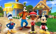 Mickey Donald Goofy and Mii Photos