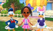 Donald Duck Daisy Duck and Mii Photos