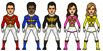 Power rangers megaforce cast by stuart1001-d5bzrmw