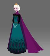 Elsa coronation full body with cape