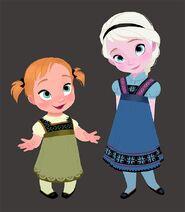 Little Anna & Elsa