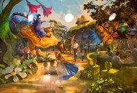 WDW-new-fantasyland - Alice 02