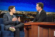 Justin Long visits Stephen Colbert