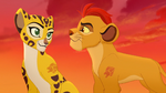 Kion and Fuli exchange a smile