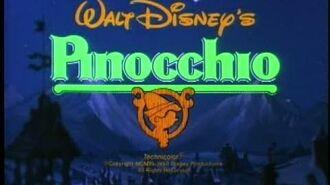 Пиноккио (1940) – трейлер переиздания 1984 года