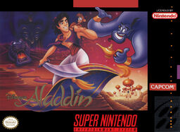 Aladdin SNES Box