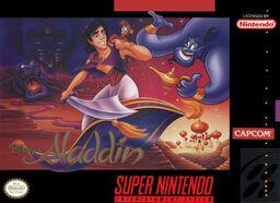 Aladdin SNES Box