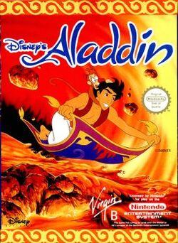 Disneys Aladdin Videogame Cover