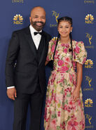 Jeffrey Wright & daughter Juno 70th Emmys