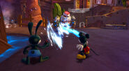 Mickey and Oswald Trying to defeat a Blot-Beetle worx
