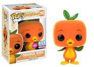 Orange Bird Flocked POP