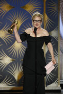 Patricia Arquette speaks at 76th Golden Globes