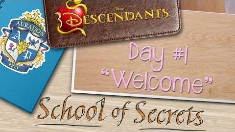 Day 1 Welcome School of Secrets Disney Descendants
