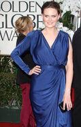Emily Deschanel 69th Golden Globes