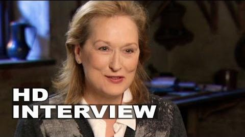 """Into the Woods Meryl Streep """"Witch"""" Behind the Scenes Movie Interview 3"""