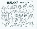 Baloo the Bear model sheet 423111500