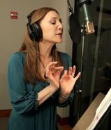Donna Murphy behind the scenes Tangled