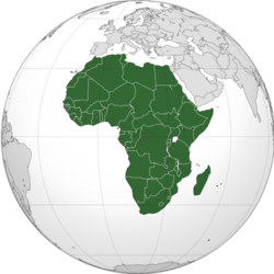 Africa (orthographic projection) svg