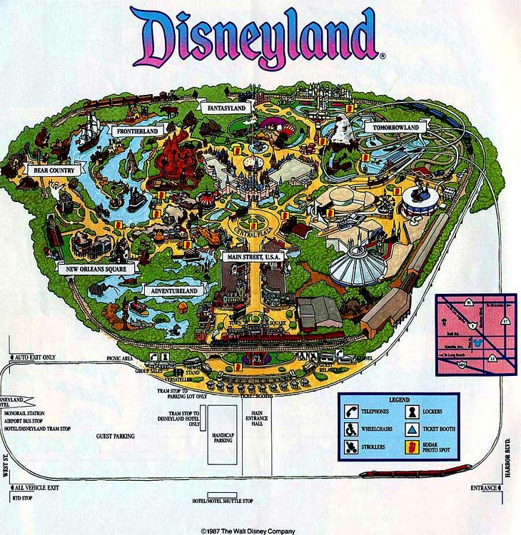 Image disneyland 1987 mapg disney wiki fandom powered by wikia disneyland 1987 mapg gumiabroncs Choice Image